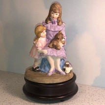 Heritage House Figurine Fine Porcelain Statue 1991 My Mothers Love Music Box Pup - $34.65