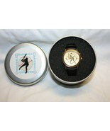 Baseball Themed Gold Colored Watch in Tin by Valdawn  BRAND NEW 2001 - $19.79