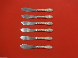 """Rose by Stieff Sterling Silver Trout Knife Set 6pc. Custom Made 7 1/2"""" - $366.80"""