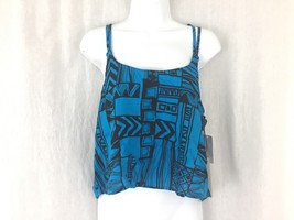 Women's Vans off wall black blue spaghetti strap crop top Size M New with tags - $17.99