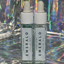 2 (Two)NEW Herbivore 8mL Emerald Facial Oil Deeply Moisturize + Soothe Skin