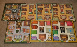 Lot of 7 Clue Game Boards ONLY! Various - $12.00