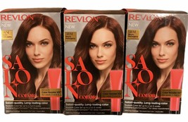 Revlon Salon Color Booster Kit 5RM Warm Mahogany 100% Grey Coverage - LOT OF 3 - $58.40