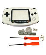 GBA Nintendo Game Boy Advance Replacement Housing Shell Screen White Mar... - $15.19