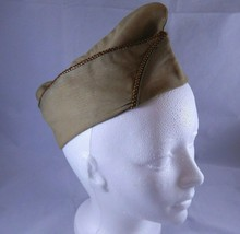 US Army Khaki Garrison Cap Specialist Reserve Piping WWII Overseas Unifo... - $12.73
