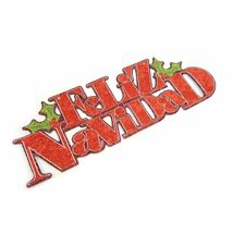 Glitter Red Feliz Navidad Hanging Sign Home Décor Christmas & Holiday Fe... - $14.99