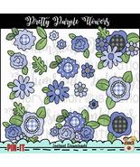 Pretty Purple Flowers Clip Art - $1.35