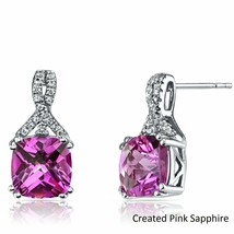 Women Fashion 18K White Gold Plated Pink Swarovski Crystal Elegant Stud ... - $8.81