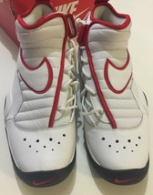 Nike Air Shake Ndestrukt Men's Basketball Shoes White/Red 880869 100 Siz... - $75.74