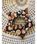 Pet Dog Scrunchy Size M/L Glitter Bat Ghost Skull Crossbones Pumpkin Wit... - $5.18