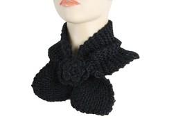 Women Black Winter Neck Warmer Flower Bow Fashion Scarf Head Hair Cover ... - $19.13 CAD