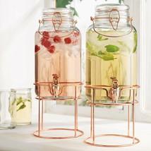 Elegant Set of 2 Quality Clear Glass 1 Gallon Each Bail&Trigger Locking Lid - $49.49