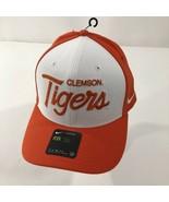Nike Classic99 Clemson Tigers Flex Fit Baseball Hat Cap Orange Retro Spe... - $26.13