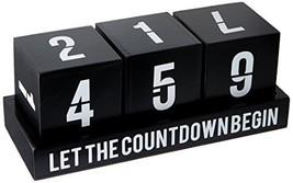 8 Oak Lane EN038CAL Blocks-Let the Countdown Begin, Black - $46.95
