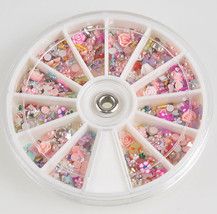 1200pcs Nail Art Tips Mixed Glitters Rhinestones Slice Decoration Manicu... - $4.70