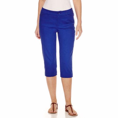 Women's St. John's Bay Secretly Slender Capri Pants Size 6 Vevre Violet New  - $23.75