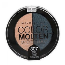 Maybelline Eye Studio Color Molten Cream Eye Shadow, Teal Twist 307 - $5.99