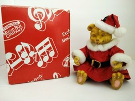 San Francisco Music Box Company Christmas Bear Musical Vintage 1992 - $29.70