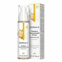 NEW DERMA E Vitamin C Concentrated Serum with Hyaluronic Acid Antioxidan... - $20.37