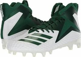 NEW Adidas Freak X Carbon Mid Football Cleats (White/Dark Green) - Size 8 - $25.30
