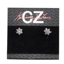 CZ by Kenneth Jay Lane Silver Flower Cluster Classic Stud Earrings KE433... - $44.06
