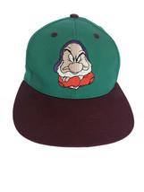 Walt Disney World Grumpy Hat Green Trucker Snap Back Baseball Adjustable... - $9.75