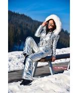 Womens Skisuit Snowsuit Outfit Outwear Shine Nylon Gloss Jacket Pants Si... - $249.00