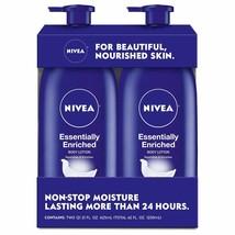 NIVEA Essentially Enriched Body Lotion Hydra IQ Plus 21 Fl Oz Bottle Pac... - $13.37