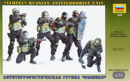1/35 Vimpel Russian Antiterrorist Unit Soldiers Military Model Toy Zvezda 3598 - $12.00