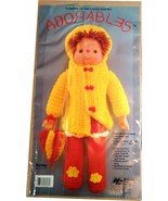 """VINTAGE ADORABLES 16"""" CROCHE DOLL KIT ROBIN BY PAL, NATIONAL YARN CRAFTS - $9.97"""