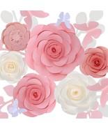 Pink Artificial Paper Flowers Set for Wedding Bouquet, Table Centerpiece... - $39.99