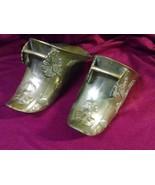 Antique Pair of Brass Spanish Conquistador Stirrup Shoes - $139.97
