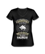 Women's Taurus The Bull Zodiac V-Neck T-Shirt Astrology - $20.99