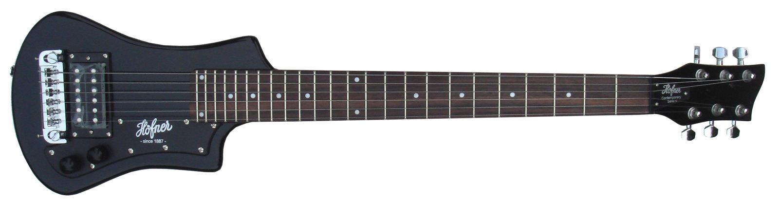 HOFNER HCT-SH-BL SHORTY TRAVEL Electric Guitar BLACK with Gig Bag