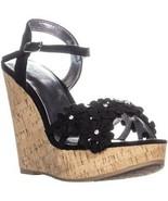 Carlos By Carlos Santana Belinda Platform Wedge Sandals, Black - $21.99