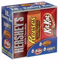 Hershey Candy Bar Assorted Variety Box (HERSHEY'S Milk Chocolate, KIT KA... - $13.91