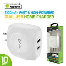Cellet Universal 10 Watt / 2.1 Amp Dual USB Port Travel Home Wall Charger image 4