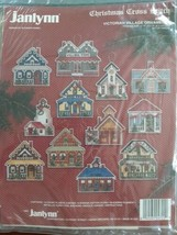 Janlynn Victorian Village Ornaments Christmas Cross Stitch Plastic Canva... - $24.74