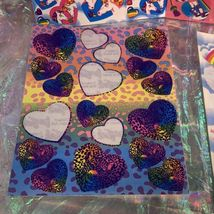 Incomplete Vintage Lisa Frank Sticker Sheets Hearts & Unicorns Ballet Cheetah ! image 3