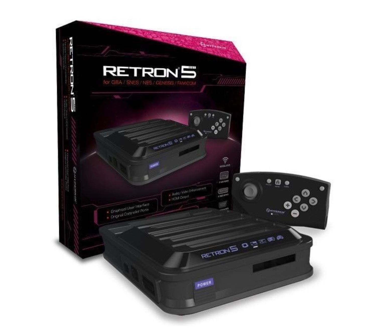 Hyperkin RetroN 5 Retro Video Gaming System Sega NES SNES Gameboy Advance HD