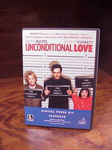 Unconditional Love Digital Press Kit and Screener 2 Disc DVD Set, used - $11.95