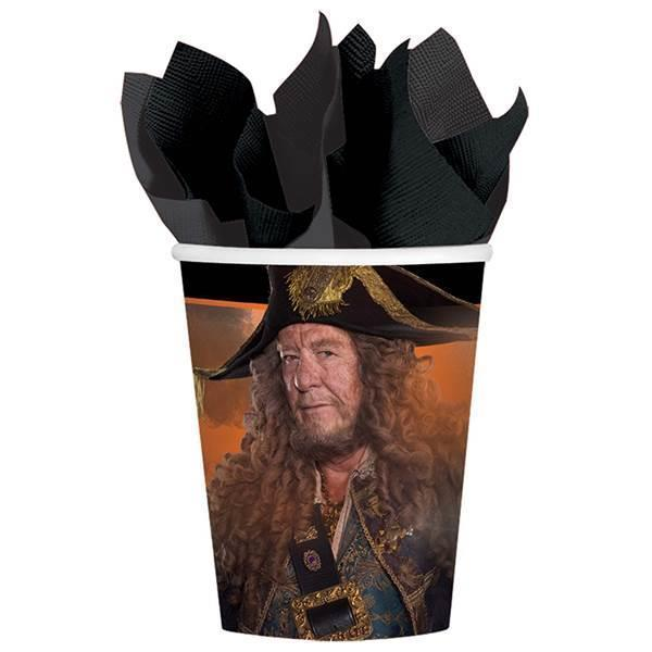Pirates of the Caribbean Dead Men Tell No Tales 9 oz Paper Cups 8 Count New