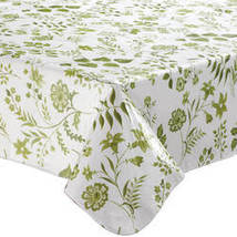 Flowing Flowers Vinyl Tablecovers By Home-Style Kitchen-60X90OBLONG-SAGE - $16.99