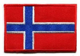 Flag of Norway Norwegian Scandinavian Europe applique iron-on patch S-94 - $2.95