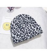 Hirigin Unif Beanie Fashion Leopard Print Beanie Women Men Unisex Winter... - £8.21 GBP