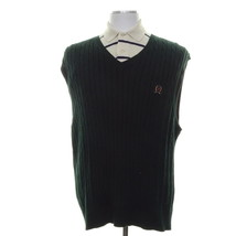 TOMMY HILFIGERS   Men Size L Green Logo Top Vest  Sweater - $29.69