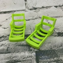 Vintage Fisher Price Little People Replacement Beach Chairs Green - $19.79