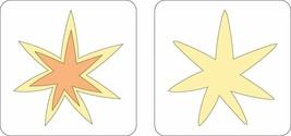 """Provo Craft Cuttlebug 2"""" x 2"""", Two Step Dies, 2 Dies, Starburst"""
