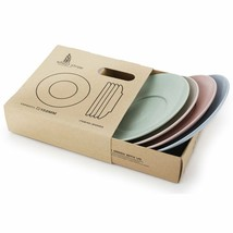4pcs Wheat Straw Eco Biodegradable Unbreakable Saucers Plates Dinnerware... - $12.86