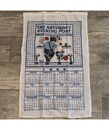 SATURDAY EVENING POST FABRIC CALENDAR Norman Rockwell cop special today ... - $16.81